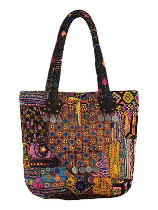 Multi-Color Embroidered Nomad Tote Bag