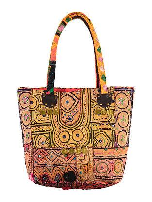 Multi-Color Embroidered Gypsy Tote Bag