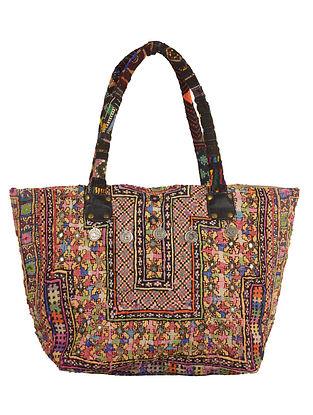 Multi-Color Gypsy Embroidered Tote Bag