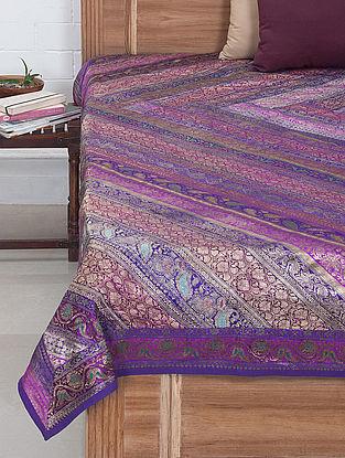 Multi-Color Brocade Bed Cover 105in x 86in