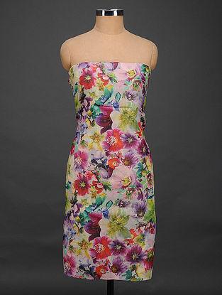 Multicolored Printed Tussar Silk Kurta Fabric