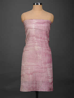 Pink-Ivory Printed Tussar Silk Kurta Fabric