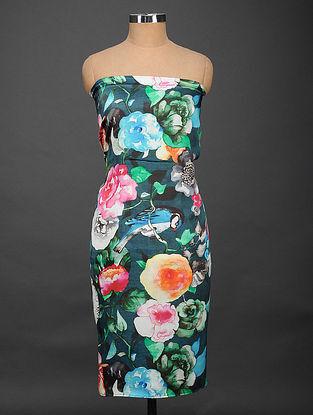 Multicolored Printed Satin Silk Kurta Fabric