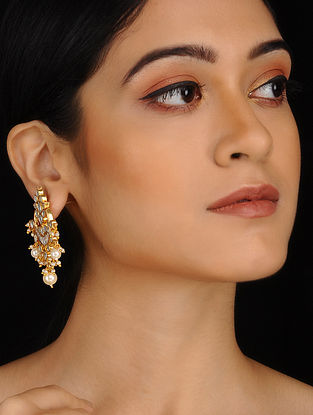 Classic Gold Plated Earrings with Pearls