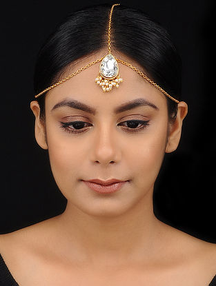 Classic Gold Tone Crystal Maatha Patti