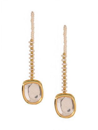 Classic Gold Tone Kundan Inspired Stud Earrings