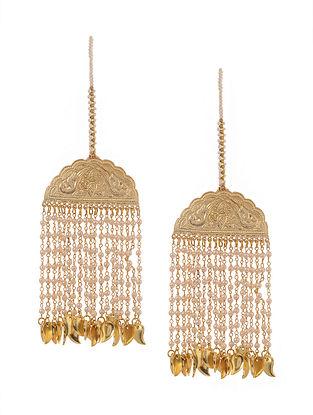 Classic Gold Tone Jhallar Earrings