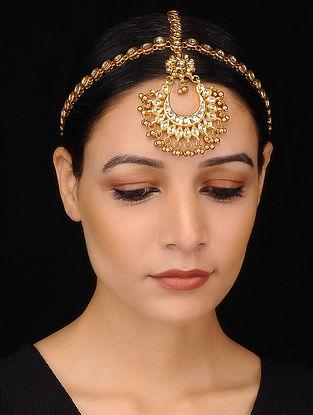 Gold Tone Kundan Maatha Patti