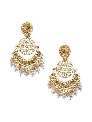 Gold Tone kundan Handcrafted Earrings