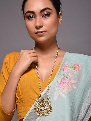Gold Tone Kundan Beaded Necklace