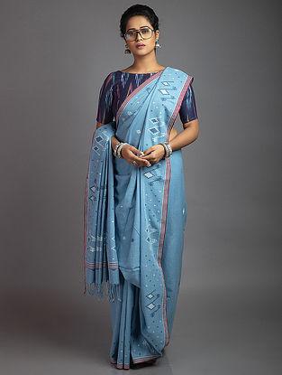 Blue jamdani Cotton Saree