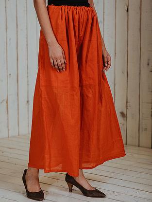 Orange Mul Palazzos with Lining