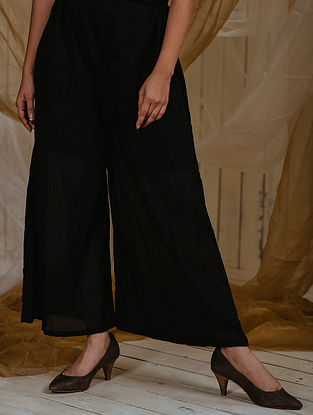 Black Mul Palazzos with Lining