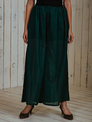 Green Mul Palazzos with Lining