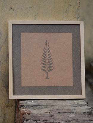 Light Rust Pine Sanjhi Art 10.5in X 10in X 1in