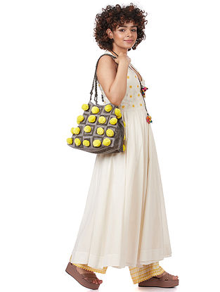 Citrus Yellow Cotton Bucket Bag