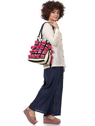 Fuschia Cotton Shoulder Bag
