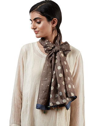 Abbie Brown Silk Scarf