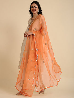 Heer Orange Silk Dupatta