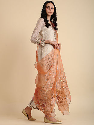 Rania Orange Silk Dupatta