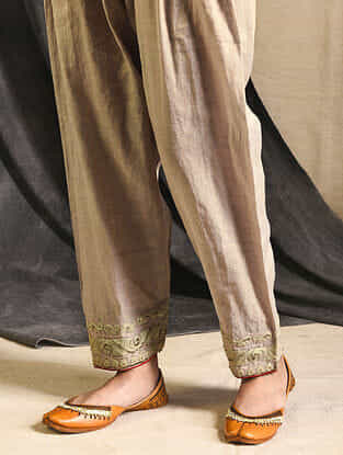 Grey Tissue Salwar