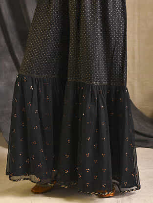 Black Silk-Cotton Sharara