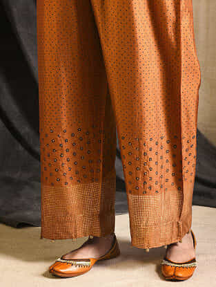 Orange Silk Pants