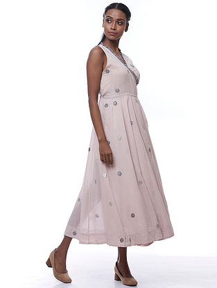 Pale Pink Cotton Evie Dress