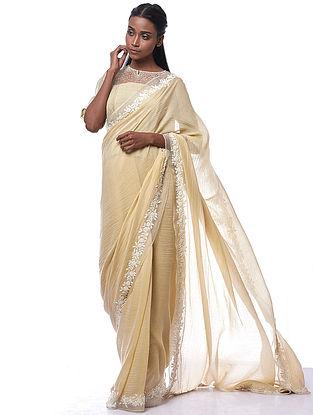 Pale Yellow Silk-Cotton Gracel Blouse