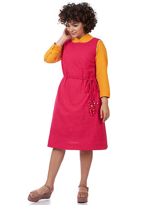 Fuschia Textured Cotton Dress