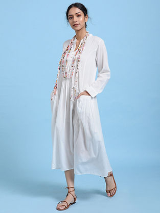 Ivory Cotton Silk Dress
