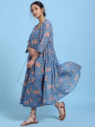 Blue Silk Cotton Kimono