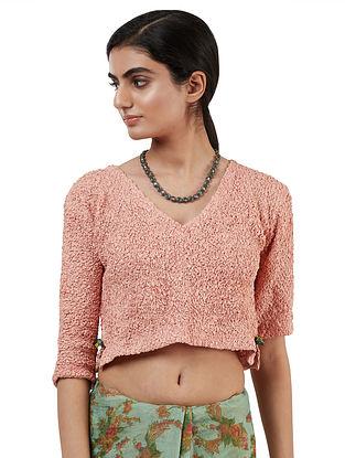 Peach Handwoven Silk Cotton Blouse