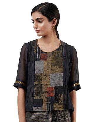 Multicolored Handwoven Silk Cotton Blouse