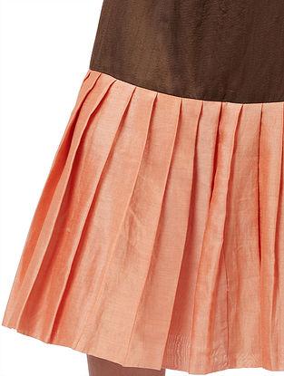Aira Mud Brown Silk Cotton Skirt
