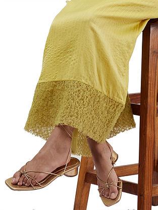 Yeva Yellow Silk Cotton Skirt