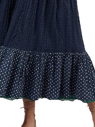 Amanda Indigo Cotton Skirt