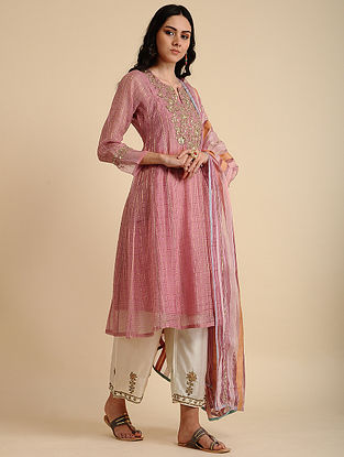 Nabiha Rose Pink Silk Cotton Kurta