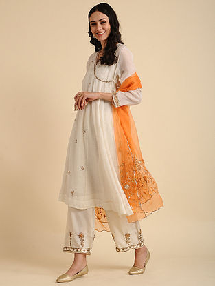 Nahida Natural Silk Cotton Kurta