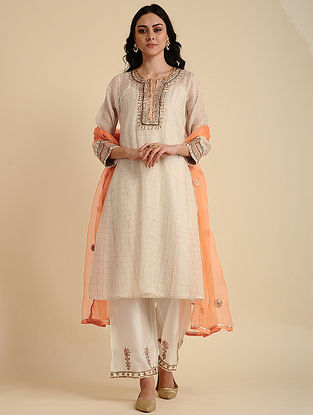 Zayda Natural Silk Cotton Kurta