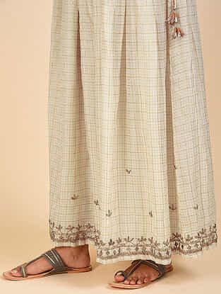 Rashida Natural Silk Cotton Sharara