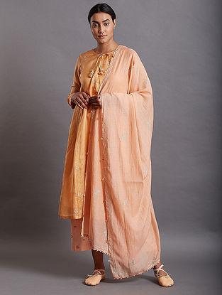 Anjum Orange Silk Kurta