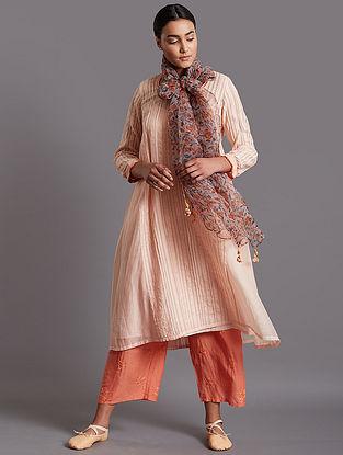 Mah-Nur Light Pink Silk Cotton Kurta