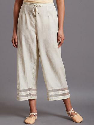 Afiya Light Blue Silk Cotton Pants