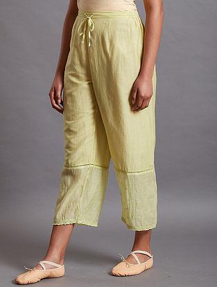 Jahin Lime Silk Cotton Pants