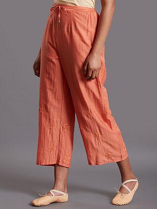 Naaj Dark Pink Silk Cotton Pants