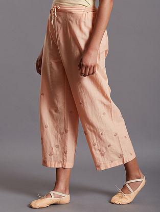 Saima Peach Silk Cotton Pants