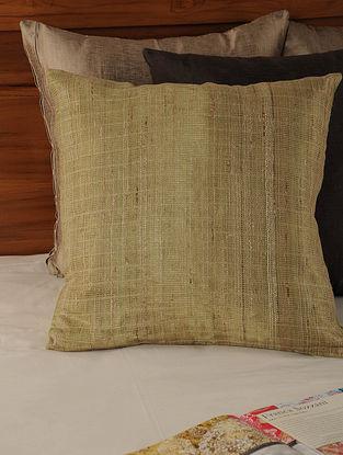 Mesh Work Mushroo Natural-Orange Cushion Cover 18in X 18in