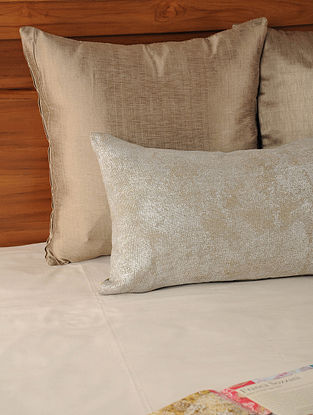 Foil Printed Linen String Gold Cushion Cover 19.5in X 12in