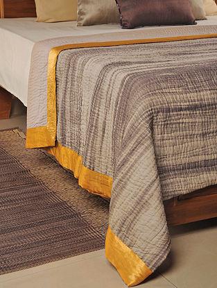 Kantha Cotton Stone-Orange Quilt 102in X 98in